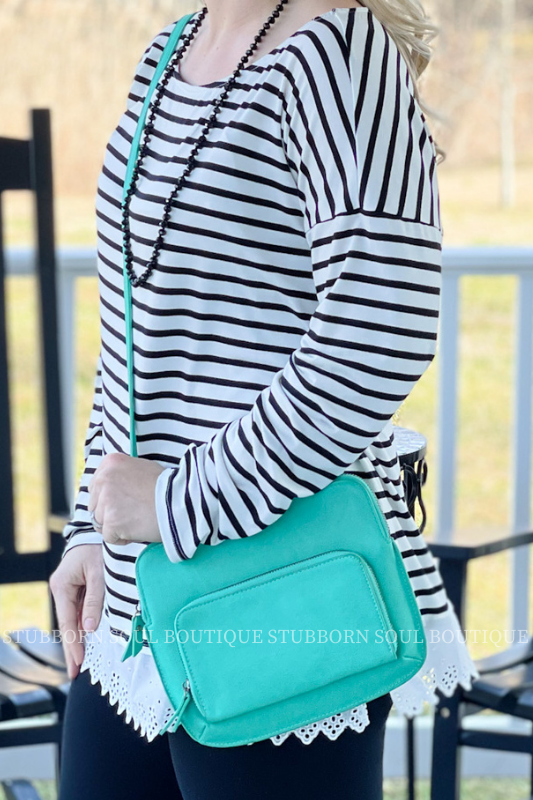Parakeet Green Nicole Crossbody Purse Stubborn Soul Boutique