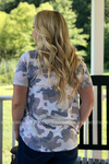 Sydney Camo & Star Print Top Ladies Top Stubborn Soul Boutique