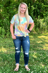Callie Tie Dye Short Sleeve Top Ladies Top Stubborn Soul Boutique