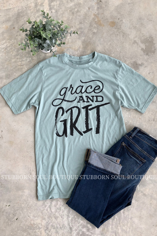 Grace & Grit Tee Ladies Top Stubborn Soul Boutique