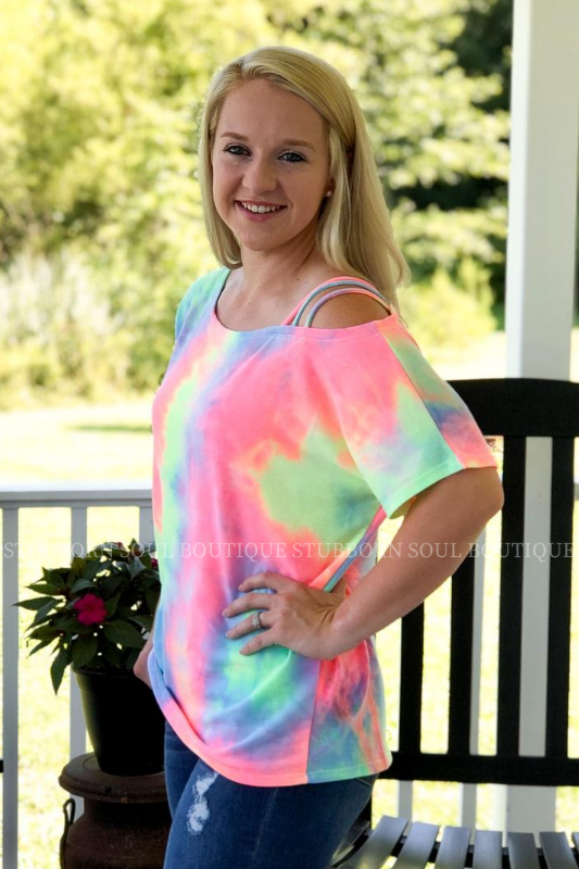 Stubborn Soul Boutique Tie Dye Top