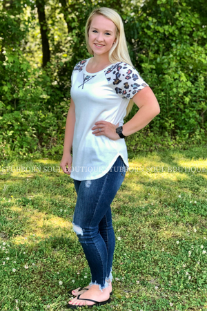 Kayla Animal Print Short Sleeve Top Ladies Top Stubborn Soul Boutique