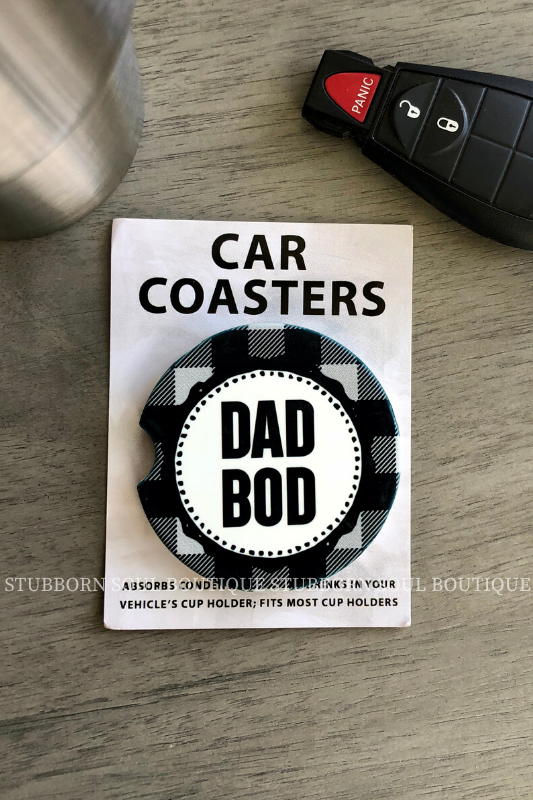 Dad Bod Car Coaster Car Coaster Stubborn Soul Boutique