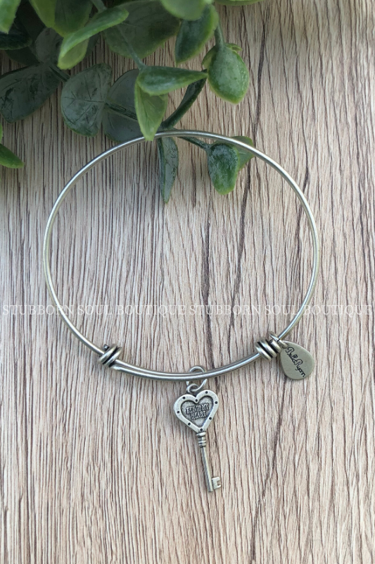 Key to my Heart Silver Charm Bracelet (Clearance) Bracelet Stubborn Soul Boutique