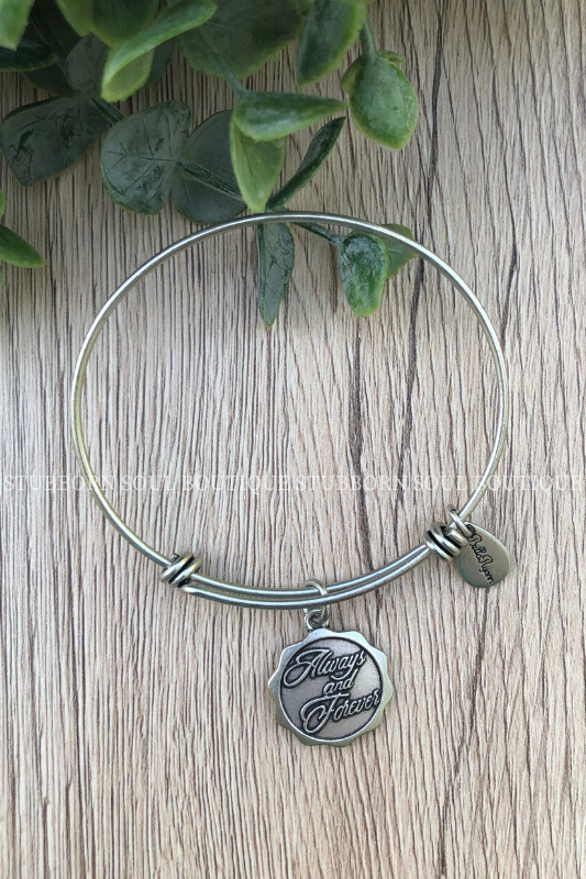 Always and Forever Silver Charm Bracelet (Clearance) Bracelet Stubborn Soul Boutique