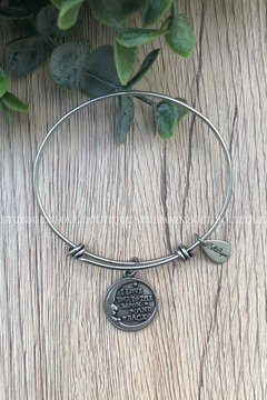 Love You Moon & Back Silver Charm Bracelet (Clearance)