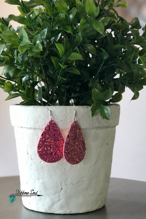 The Magenta Party Starter Glitter Earrings