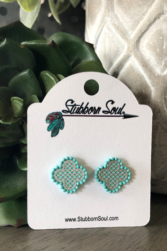 Filigree Clover Post Earrings Earrings Stubborn Soul Boutique