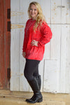 Allison Oversized Sweater in Red (Clearance) Ladies Top Stubborn Soul Boutique