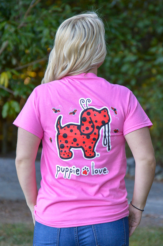 Puppie Love Ladybug Pup Tee Ladies Top Stubborn Soul Boutique