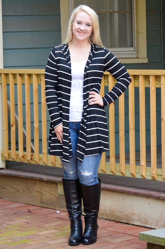 Aubrey Hooded Cardigan Stubborn Soul Boutique