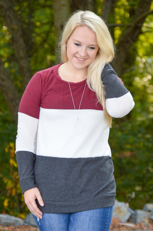 Hailey Color Block Top