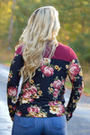 Trish Floral Print Long Sleeve Top