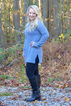Molly Tunic Sweater in Cement