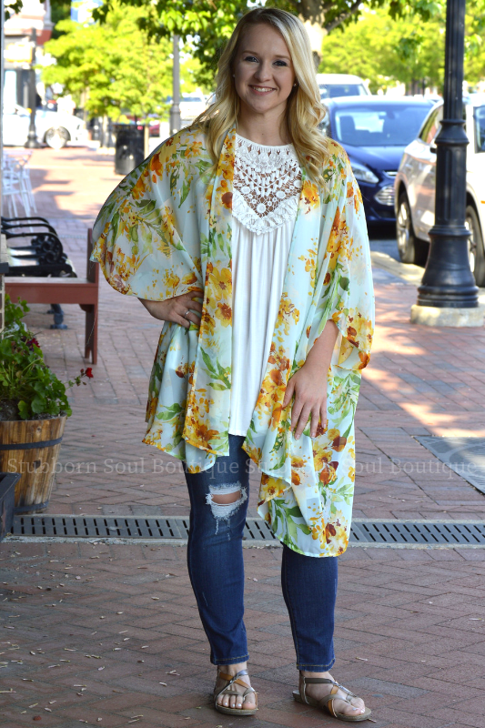 Weekend Dreaming Kimono in Sage