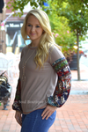 Sandy Puff Sleeve Mocha Long Sleeve Top Stubborn Soul Boutique