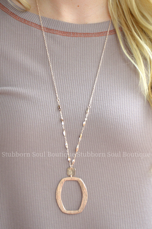 Metal Pendant Necklace - Rose Gold Stubborn Soul Boutique