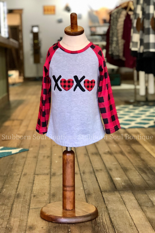 KIDS: XOXO Top (Clearance)