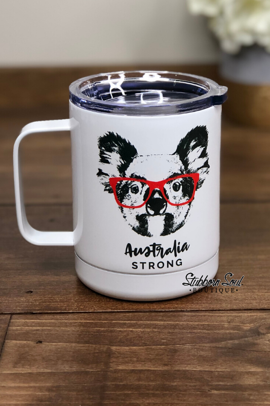 Australia Strong Cup (Clearance) Drinkware Stubborn Soul Boutique