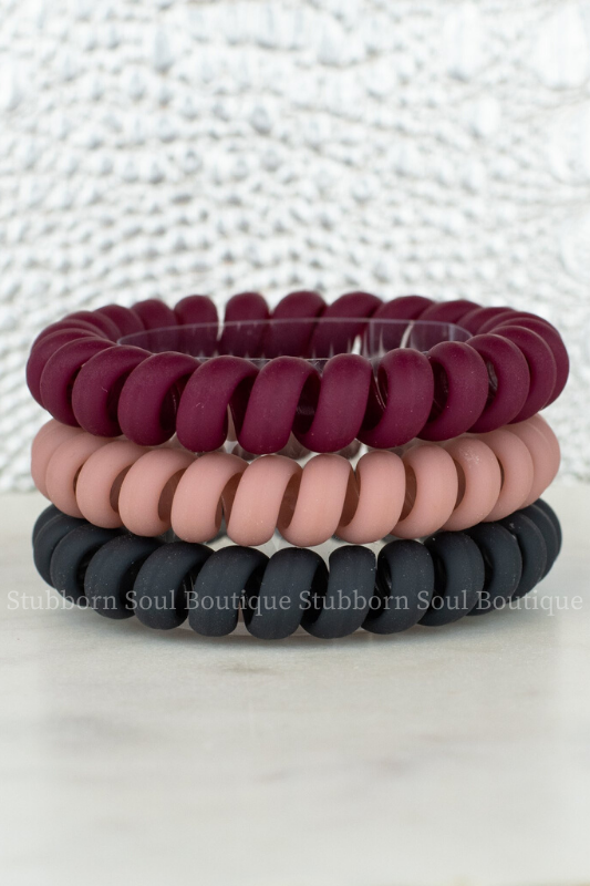 Red Velvet Hair Tie Set Hotline Stubborn Soul Boutique
