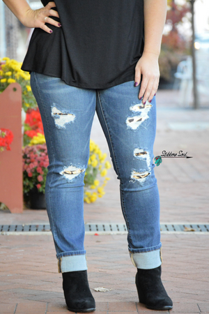 Kan Can Riley Leopard Skinny jeans stubborn soul boutique