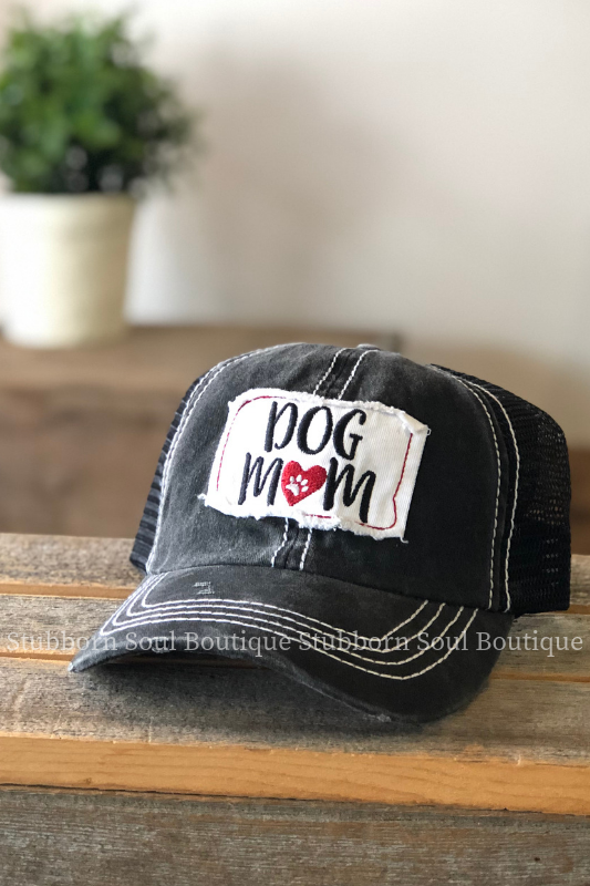 Dog Mom Patch Hat in Black Stubborn Soul Boutique