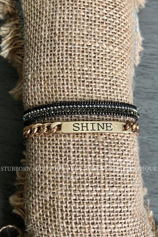 Hero Single Bracelets - Shine Gold (Clearance) Bracelet Stubborn Soul Boutique