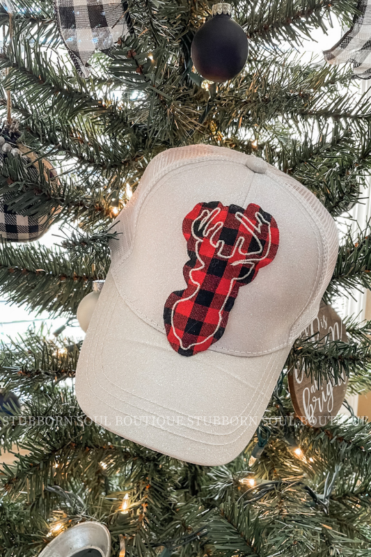 Buffalo Plaid Deer Hat (Clearance)