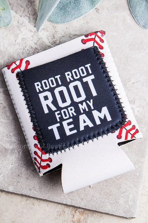 Root for My Team Baseball Can Cooler (Clearance) Koozie Stubborn Soul Boutique