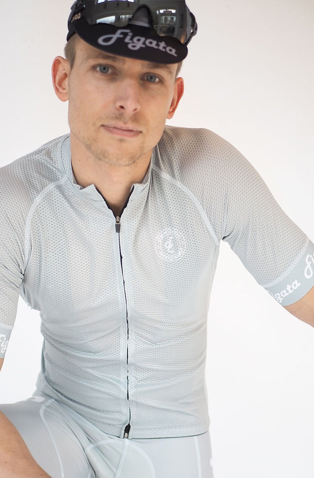 Short Sleeve Cycling Jersey Darkone Gray
