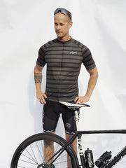 Short Sleeve Cycling Jersey Darkone Army Stripes