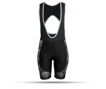 Figata Womens Black & Light Gray Cycling Bib Shorts
