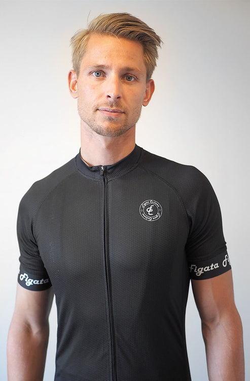 Short Sleeve Cycling Jersey Darkone Black