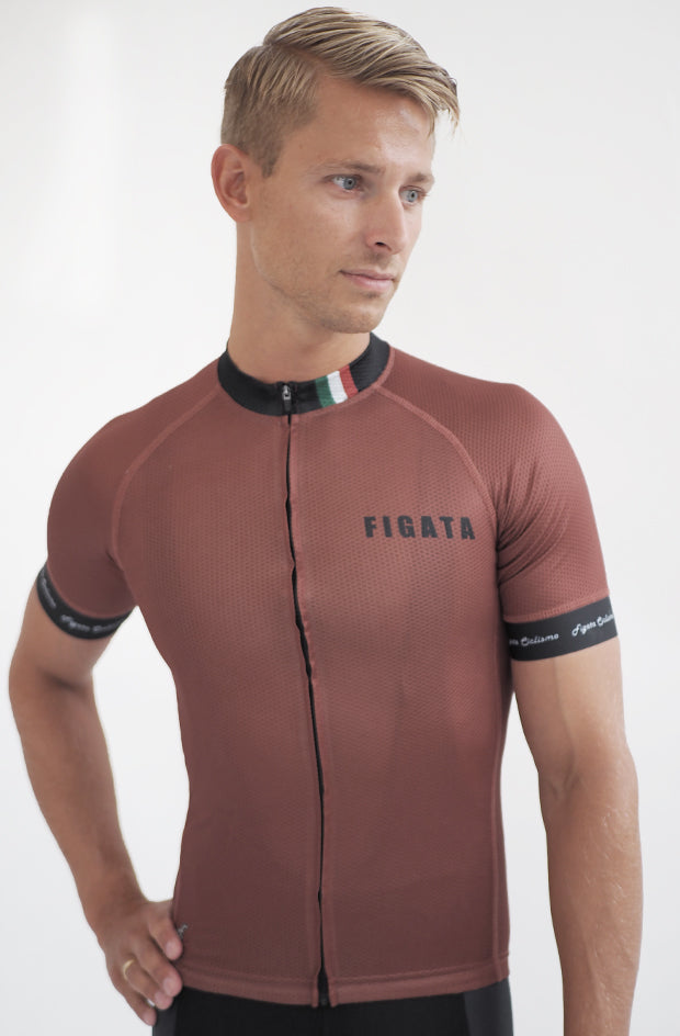 Short Sleeve Cycling Jersey Darkone Bronze