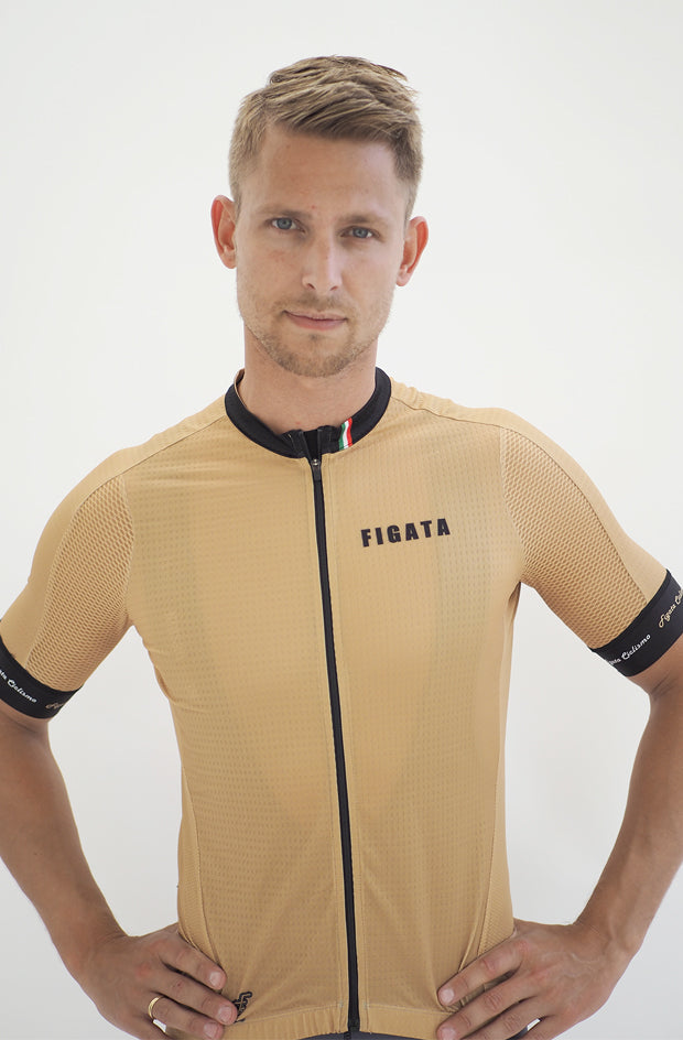 Short Sleeve Cycling Jersey Premium Gold ( Size M + L)