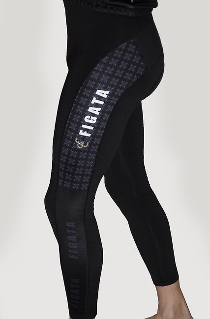 Long Winter Cycling Pants with Padding Exclusive Print