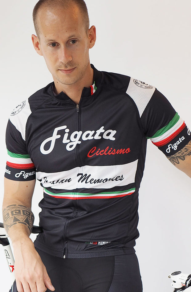 Short Sleeve Cycling Jersey Darkone Italian Memories