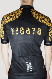 Premium Women Short Sleeve Cycling Jersey Leopard