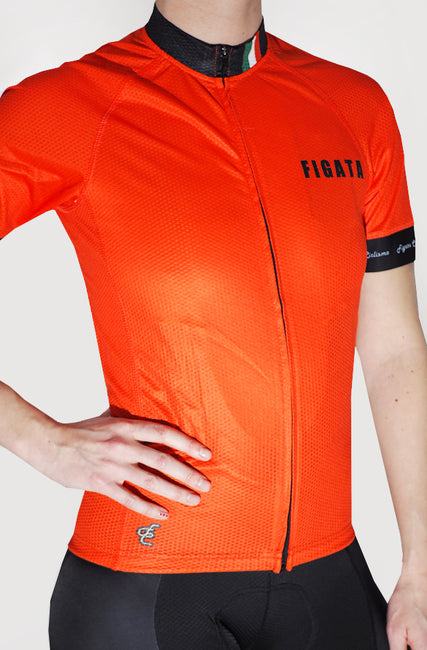 Darkone Women Short Sleeve Cycling Jersey Orange