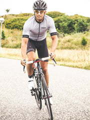 Silver cycling jersey