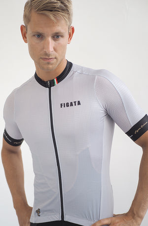 Short Sleeve Cycling Jersey Premium Silver