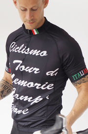 Short Sleeve Cycling Jersey Darkone Typography