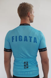 Short Sleeve Cycling Jersey Darkone Aqua Blue
