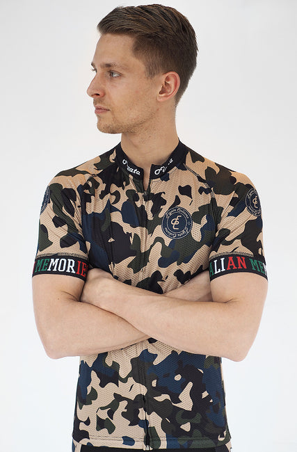 Short Sleeve Cycling Jersey Darkone Camo