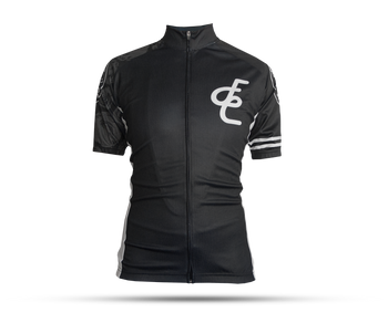 Figata Womens Black & Light Gray Sleeve Cycling Jersey