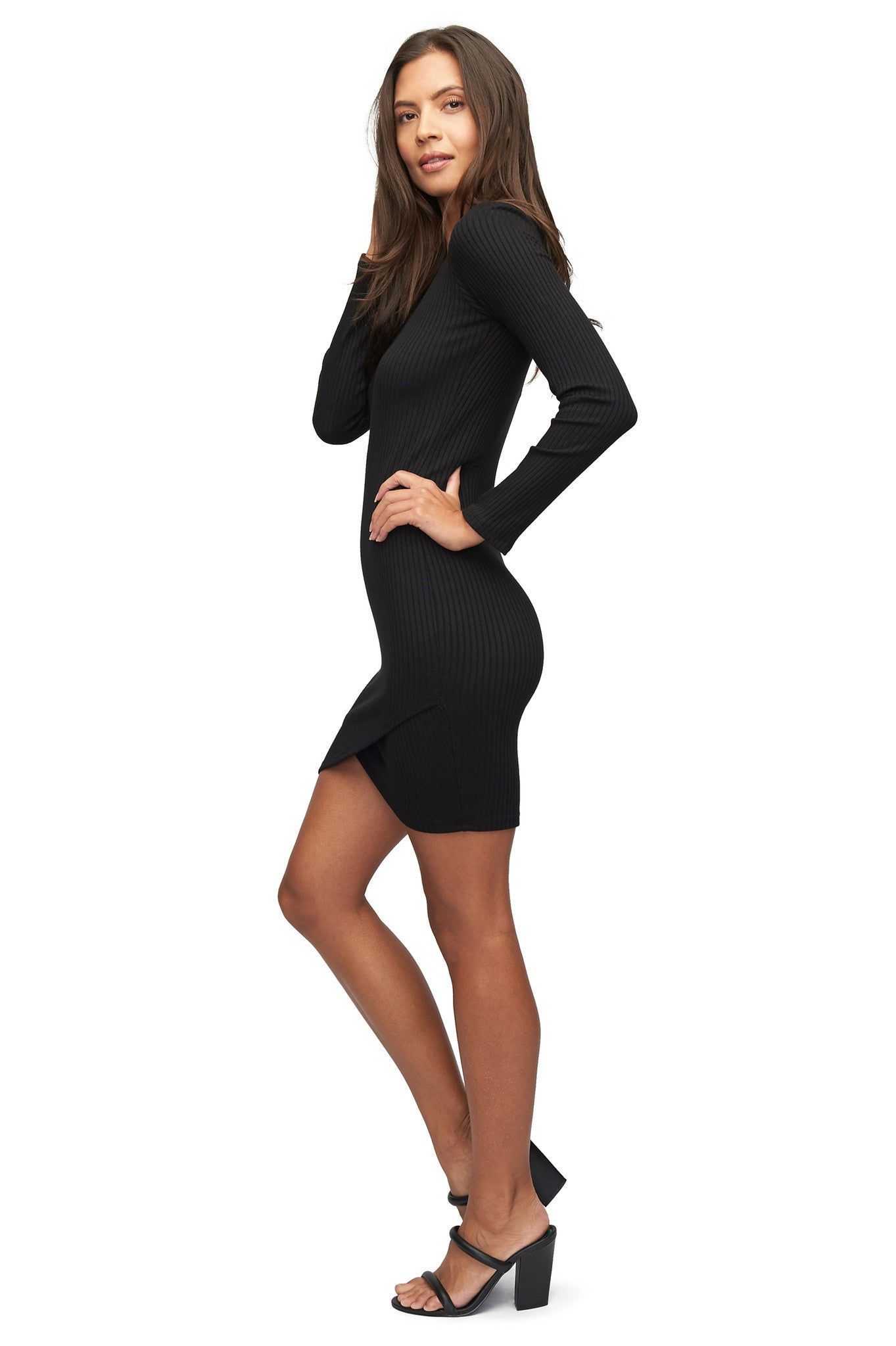 Rib Azizi Dress - Black