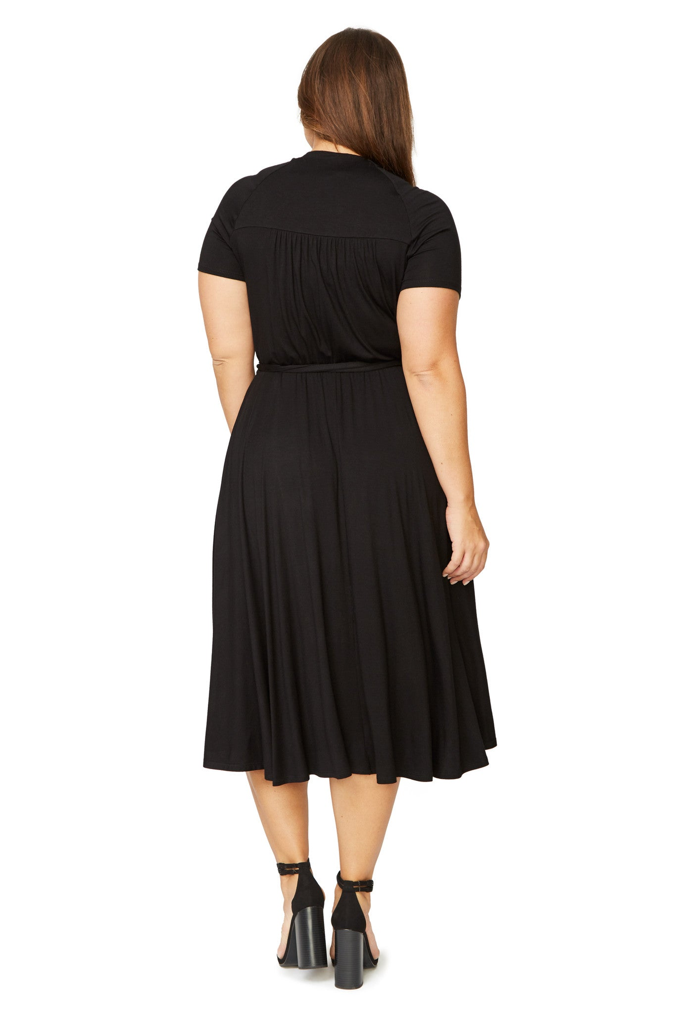 Short Sleeve Cookie Dress - Black, Plus Size