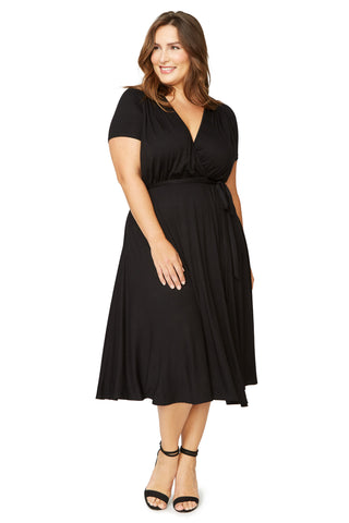 Short Sleeve Cookie Dress - Black