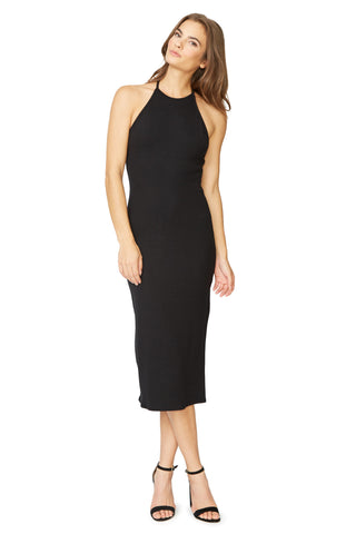 Luxe Rib Fernanda Dress - Black
