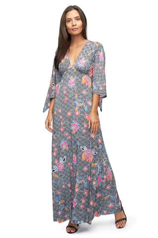 Brayan Dress Print - Island Flower